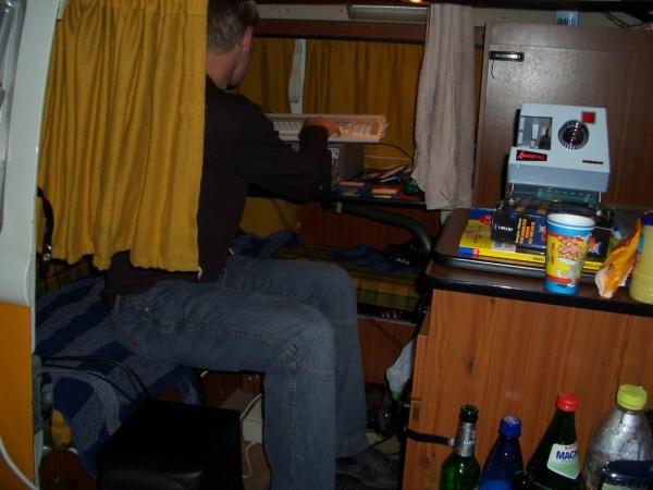 Die Regie, im inneren wird gerade der Amiga 1200 als Bildquelle verwendet.