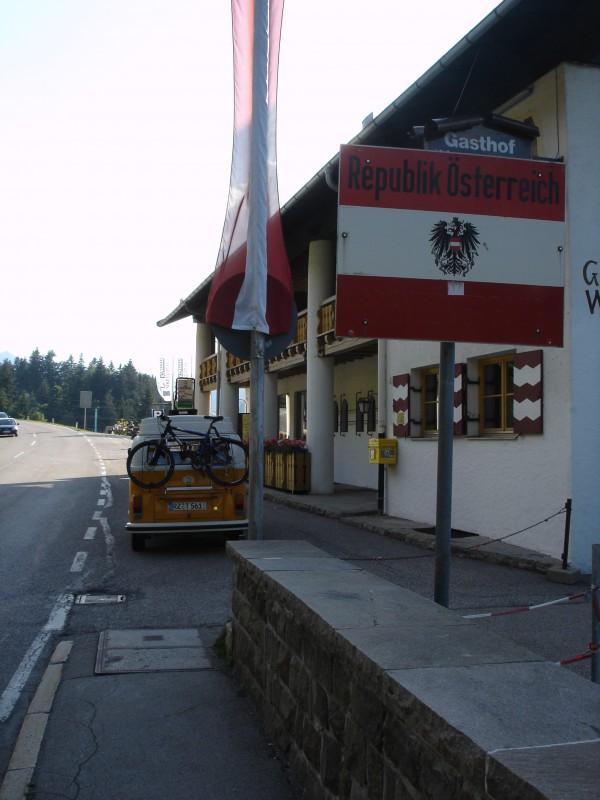 Grenze zu Österreich im Kleinwalsertal