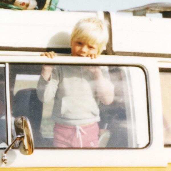 Ich 1981 in Westerhever im zweiten Urlaub mit dem Bulli