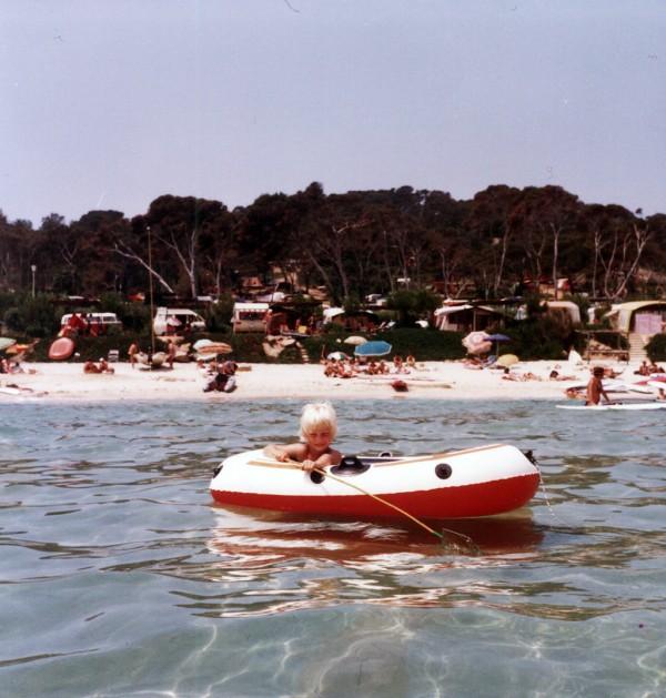 Ich im Schlauchboot